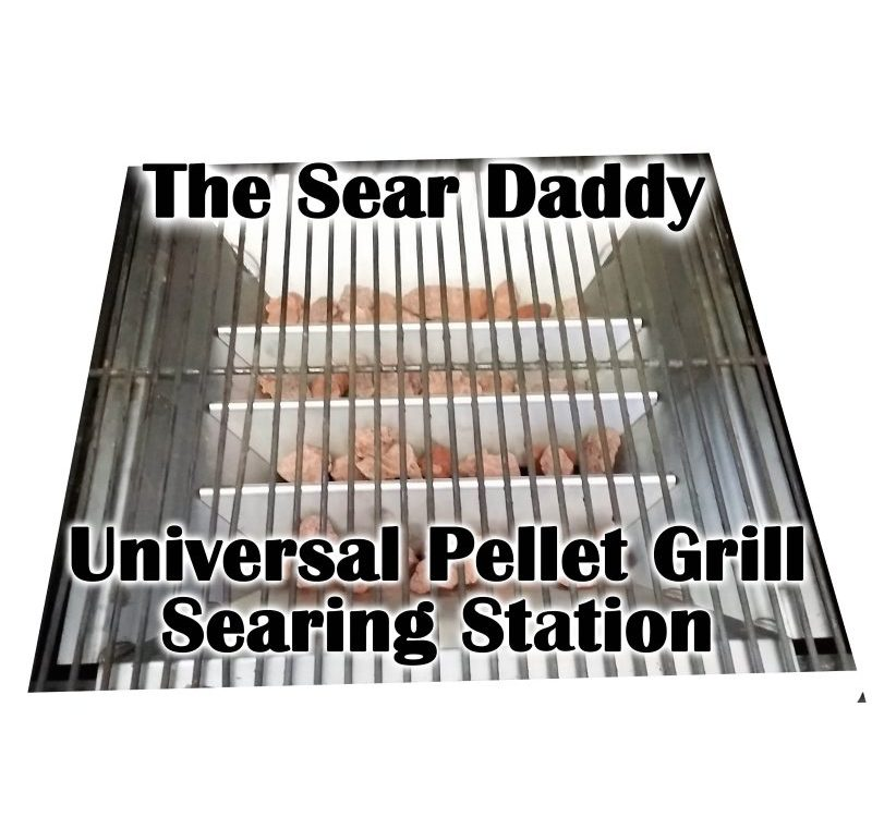 searing on a pellet grill