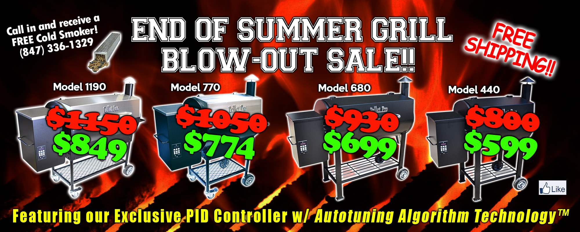 2018 End of Summer Grill Sale